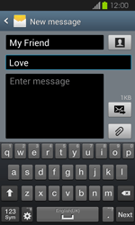 Samsung I8730 Galaxy Express - MMS - Sending pictures - Step 11