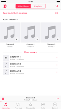 Apple iPhone 6s Plus - Photos, vidéos, musique - Ecouter de la musique - Étape 6