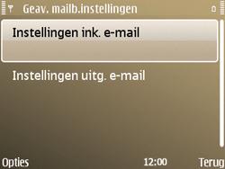 Nokia E72 - e-mail - handmatig instellen - stap 22