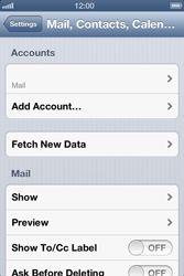 Apple iPhone 4S - E-mail - Manual configuration - Step 13