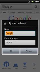 Sony Xperia Neo - Internet - Navigation sur Internet - Étape 5
