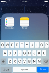 Apple iPhone 4S iOS 7 - Getting started - personalising your Start screen - Step 6