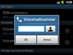 Samsung B5510 Galaxy TXT - Voicemail - Handmatig instellen - Stap 7