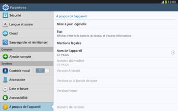 Samsung Galaxy Tab 3 10-1 LTE - Logiciels - Installation de mises à jour - Étape 6