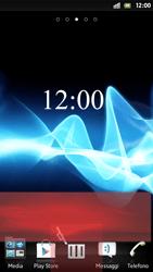 Sony Xperia S - Operazioni iniziali - Installazione di widget e applicazioni nella schermata iniziale - Fase 8