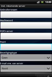 Sony Xperia Mini Pro - E-mail - Handmatig instellen - Stap 7