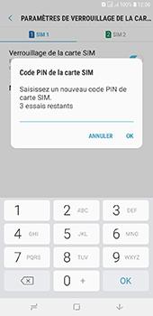 Samsung Galaxy J6 Plus - Sécuriser votre mobile - Personnaliser le code PIN de votre carte SIM - Étape 10