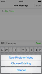 Apple iPhone 5s - MMS - Sending pictures - Step 8