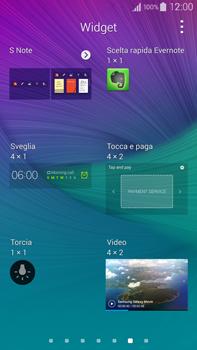 Samsung Galaxy Note 4 - Operazioni iniziali - Installazione di widget e applicazioni nella schermata iniziale - Fase 5