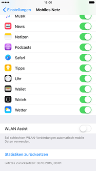 Apple iPhone 6s Plus - WLAN - WLAN Assist deaktivieren - Schritt 6
