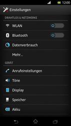 Sony Xperia T - Netzwerk - Netzwerkeinstellungen ändern - Schritt 4