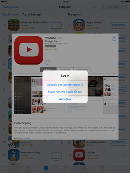 Apple iPad mini met iOS 9 (Model A1455) - Applicaties - Account aanmaken - Stap 7