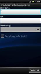 Sony Ericsson Xperia X10 - E-Mail - Konto einrichten - Schritt 12