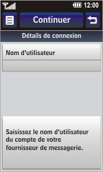 LG GD900 Crystal - E-mail - Configuration manuelle - Étape 10