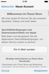 Apple iPhone 4 S mit iOS 7 - Apps - Konto anlegen und einrichten - Schritt 21