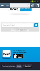 Samsung Galaxy Note II - Internet und Datenroaming - Verwenden des Internets - Schritt 11