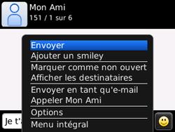 BlackBerry curve 3G - Contact, Appels, SMS/MMS - Envoyer un SMS - Étape 12