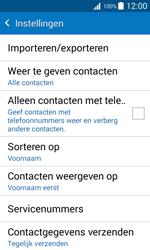 Samsung Galaxy J1 (SM-J100H) - Contacten en data - Contacten kopiëren van toestel naar SIM - Stap 7