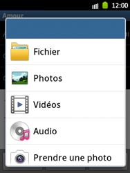 Samsung S5300 Galaxy Pocket - E-mail - Envoi d