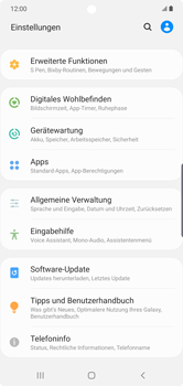 Samsung Galaxy Note 10 Plus 5G - Gerät - Zurücksetzen auf die Werkseinstellungen - Schritt 4