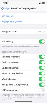 Apple iPhone X - iOS 13 - Beveiliging - stel in of wijzig pincode voor je toestel - Stap 8