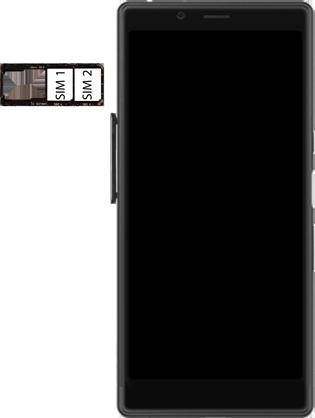 Sony Xperia L3 - SIM-Karte - Einlegen - Schritt 5