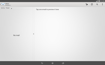 Sony Xperia Tablet Z2 LTE - E-mail - manual configuration - Step 4