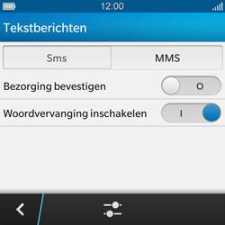 BlackBerry Q10 - SMS - handmatig instellen - Stap 6