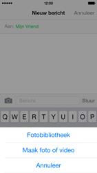 Apple iPhone 5s iOS 8 - MMS - Afbeeldingen verzenden - Stap 8