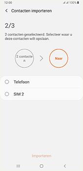 Samsung galaxy-a7-dual-sim-sm-a750fn-android-pie - Contacten en data - Contacten kopiëren van SIM naar toestel - Stap 11