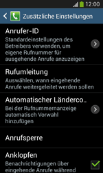 Samsung G3500 Galaxy Core Plus - Anrufe - Rufumleitungen setzen und löschen - Schritt 7