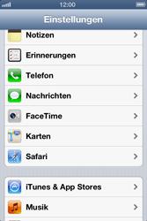 Apple iPhone 4S - Apps - Einrichten des App Stores - Schritt 3