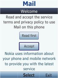 Nokia C2-05 - E-mail - Manual configuration - Step 4