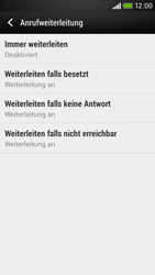 HTC Desire 601 - Anrufe - Rufumleitungen setzen und löschen - 6 / 9