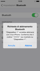 Apple iPhone 5 iOS 7 - Bluetooth - Collegamento dei dispositivi - Fase 8