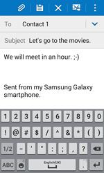 Samsung J100H Galaxy J1 - E-mail - Sending emails - Step 10