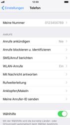 Apple iPhone 7 - iOS 12 - Anrufe - Rufumleitungen setzen und löschen - Schritt 4