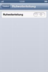 Apple iPhone 4 - Anrufe - Rufumleitungen setzen und löschen - Schritt 5