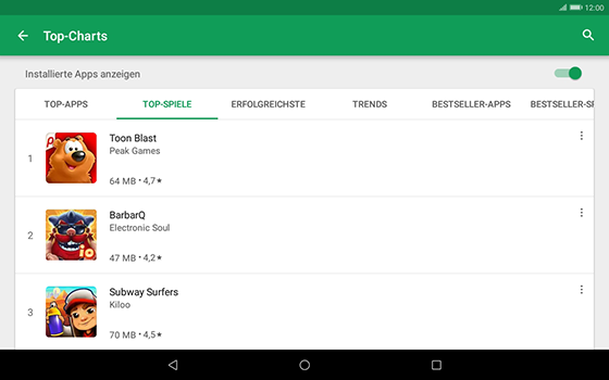 Huawei MediaPad T3 (10.0) LTE - Apps - Herunterladen - 0 / 0
