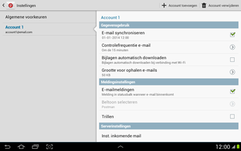 Samsung P7500 Galaxy Tab 10-1 - E-mail - Instellingen KPNMail controleren - Stap 8