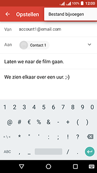 Acer Liquid Zest 4G Plus DualSim - E-mail - E-mails verzenden - Stap 10