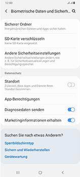 Samsung Galaxy A70 - Startanleitung - So aktivieren Sie eine SIM-PIN - Schritt 5