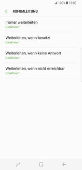 Samsung Galaxy S8 - Anrufe - Rufumleitungen setzen und löschen - Schritt 9