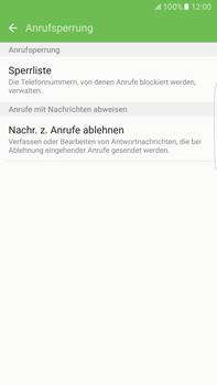 Samsung G928F Galaxy S6 edge+ - Android M - Anrufe - Anrufe blockieren - Schritt 7