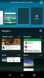 HTC One M9 - Getting started - Installing widgets and applications on your start screen - Step 5