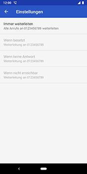 Google Pixel 3 - Anrufe - Rufumleitungen setzen und löschen - 10 / 11
