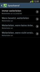 Samsung Galaxy S4 LTE - Anrufe - Rufumleitungen setzen und löschen - 11 / 12