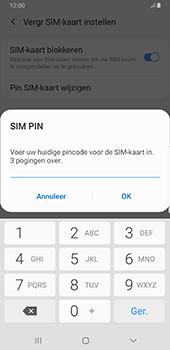 Samsung Galaxy S8+ - Android Pie (SM-G955F) - Beveiliging en ouderlijk toezicht - Hoe wijzig ik mijn SIM PIN-code - Stap 8
