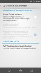 Sony Xperia E4G - Fehlerbehebung - Handy zurücksetzen - 7 / 11