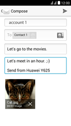 Huawei Y625 - E-mail - Sending emails - Step 14